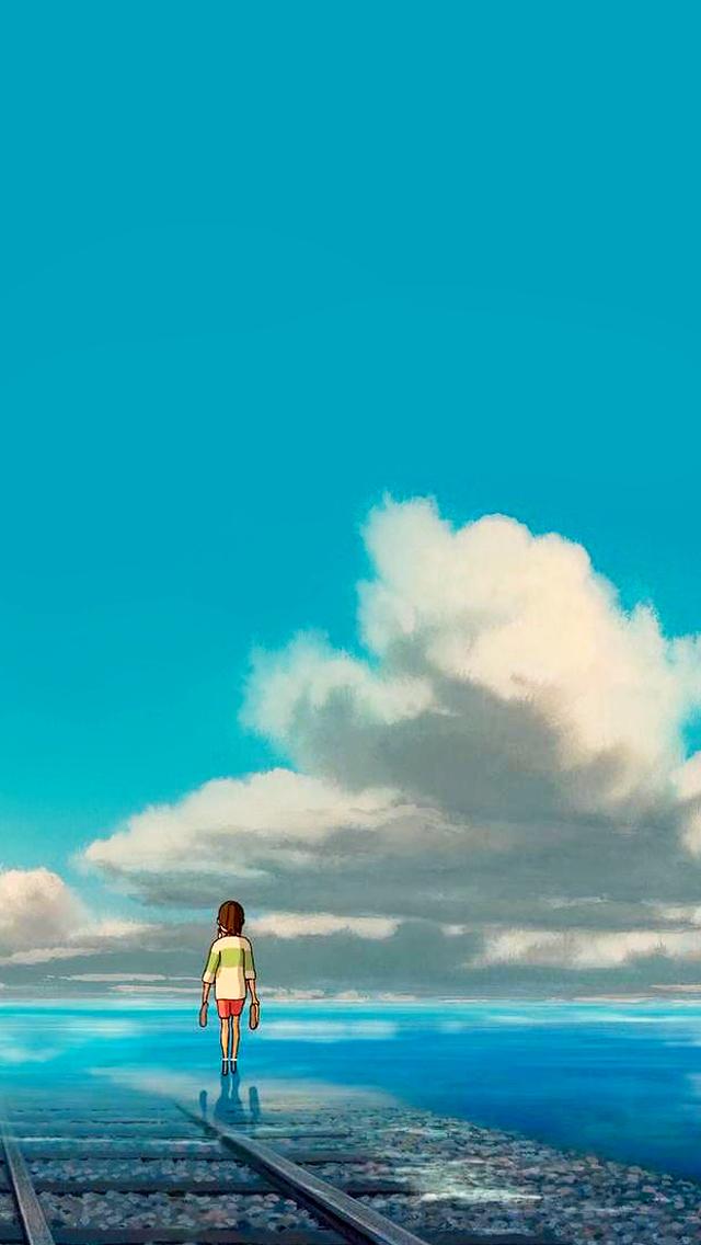 Studio Ghibli Gifs Spirited Away Phone Wallpapers Quality 640x1136 Download Hd Wallpaper Wallpapertip