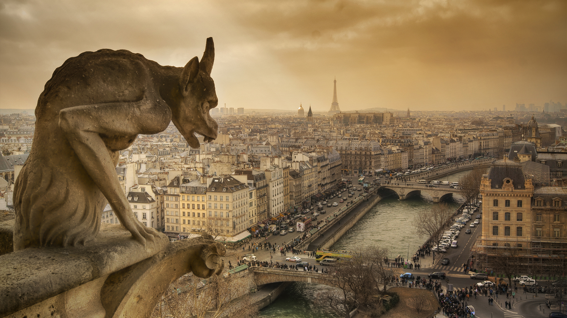 Gargoyle Wallpapers Hd Resolution For Free Wallpaper Notre Dame 1920x1080 Download Hd Wallpaper Wallpapertip
