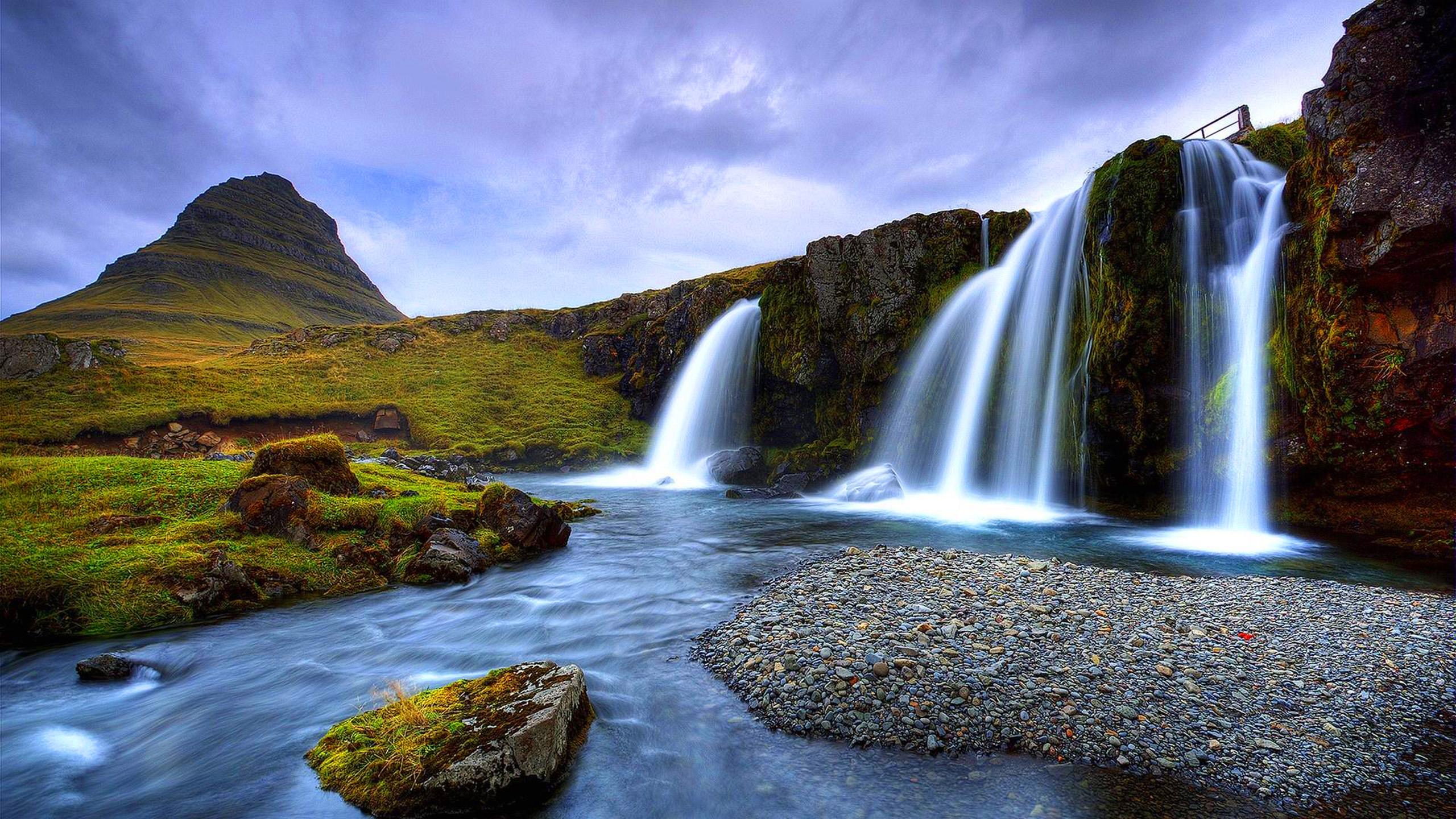 Scenery Waterfall Wallpaper 4k 2560x1440 Download Hd Wallpaper Wallpapertip
