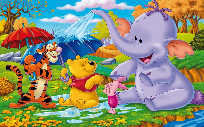 くまのプーさんと象 子供写真壁紙 1440x900 Wallpapertip