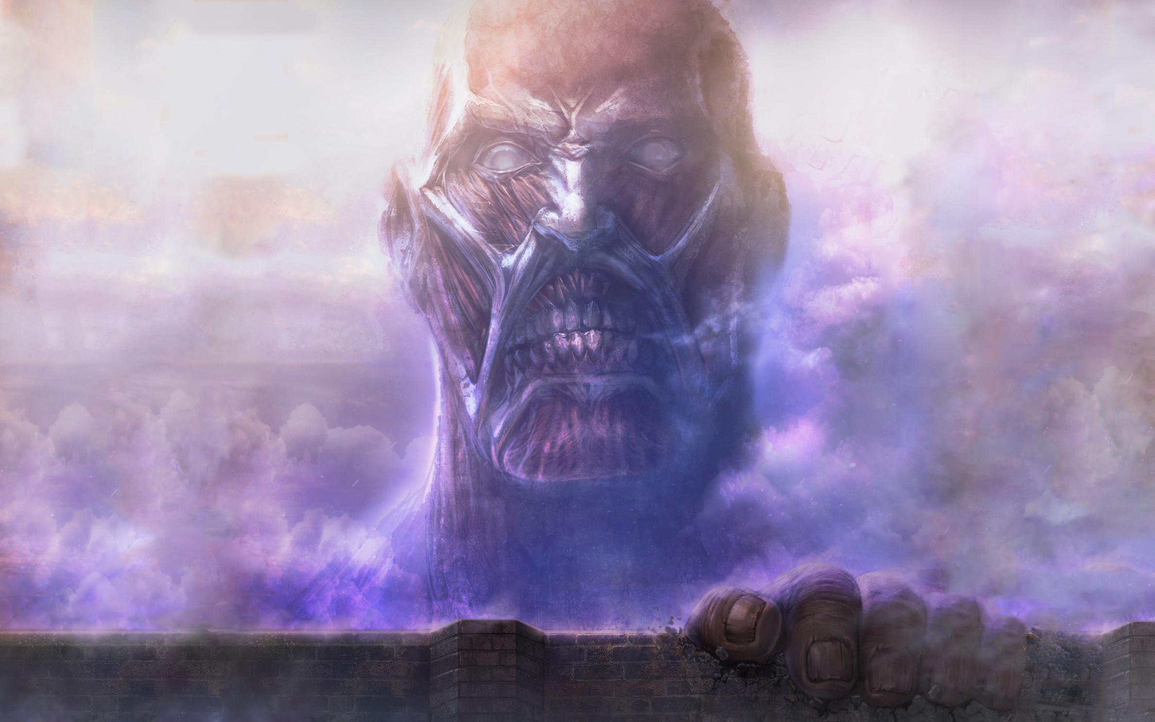 612514 Title Colossal Titan Anime Attack On Titan Attack On Titan Wall Giant 2378x1486 Download Hd Wallpaper Wallpapertip
