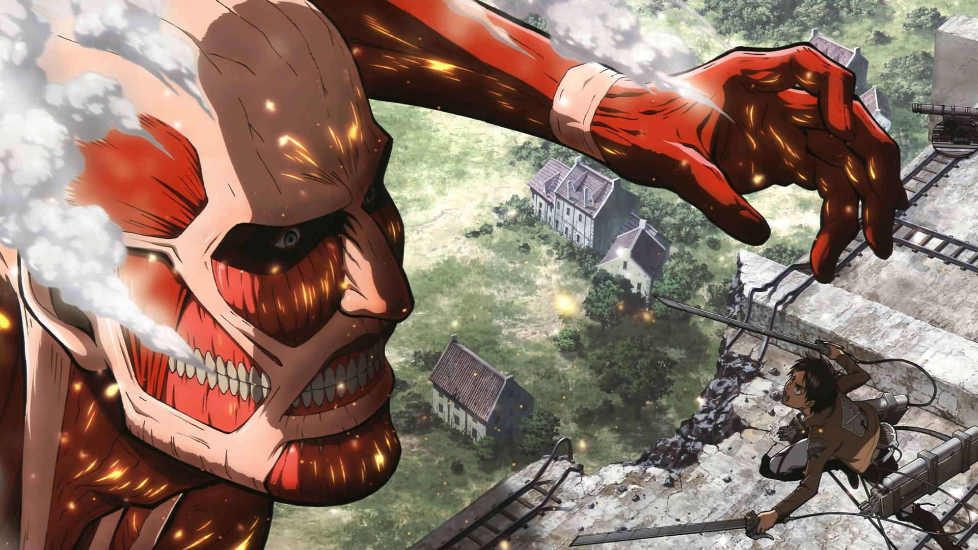 Shingeki No Kyojin Colossal 1920x1080 Download Hd Wallpaper Wallpapertip
