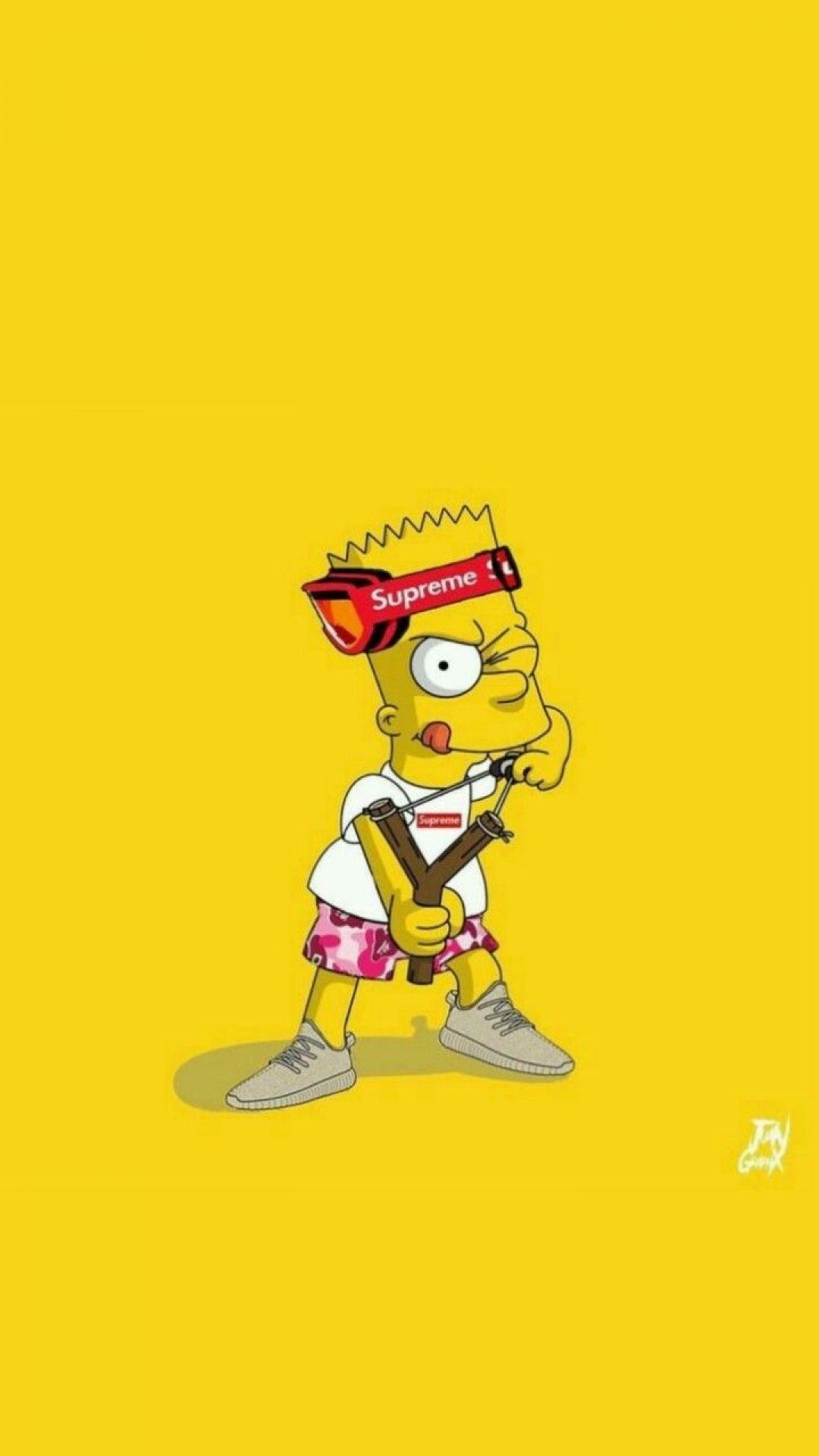 Gangster Bart Simpson Fond D Ecran Gangster 720x1280 Wallpapertip