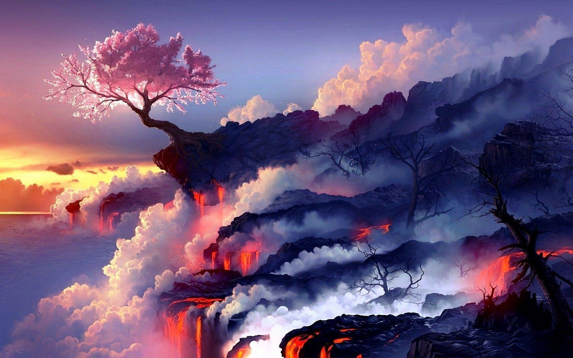 Landscape 4k Ultra Hd Wallpaper Cool Cherry Blossom Background 1920x1200 Download Hd Wallpaper Wallpapertip