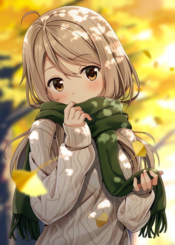 Beautiful Anime Girl Fall 800x1119 Download Hd Wallpaper Wallpapertip