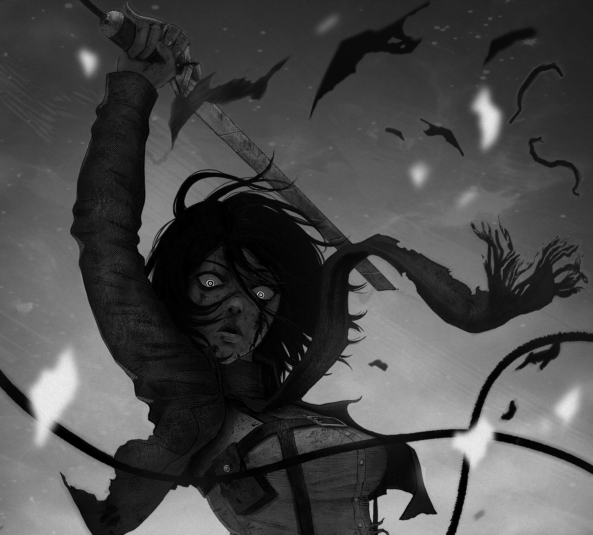 Mikasa Ackerman Dark 1920x1734 Download Hd Wallpaper Wallpapertip