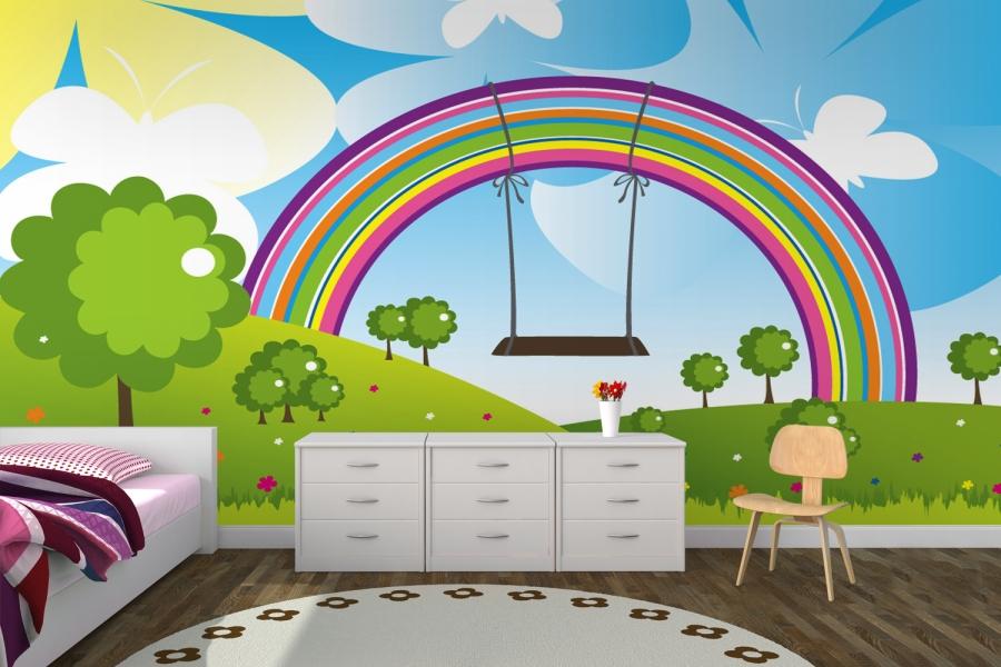 Rainbow Wall Painting Ideas 900x600 Download Hd Wallpaper Wallpapertip