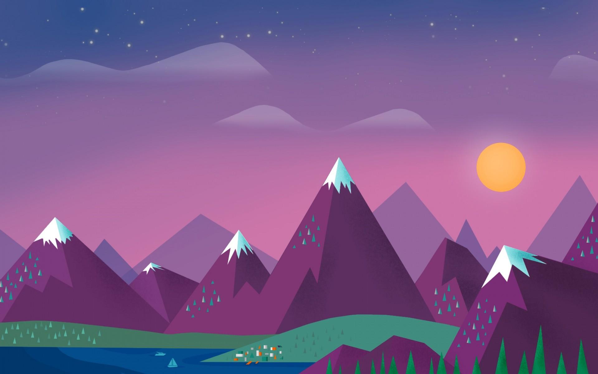 Aesthetic Pixel Art Best Hd Wallpaper Simple Landscape Background 1920x1200 Download Hd Wallpaper Wallpapertip