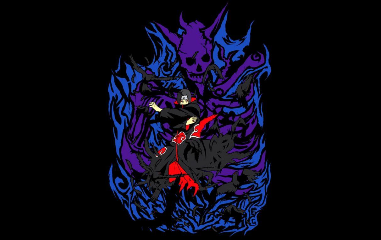 3 36162 wallpaper crows naruto naruto itachi uchiha susanoo sasuke