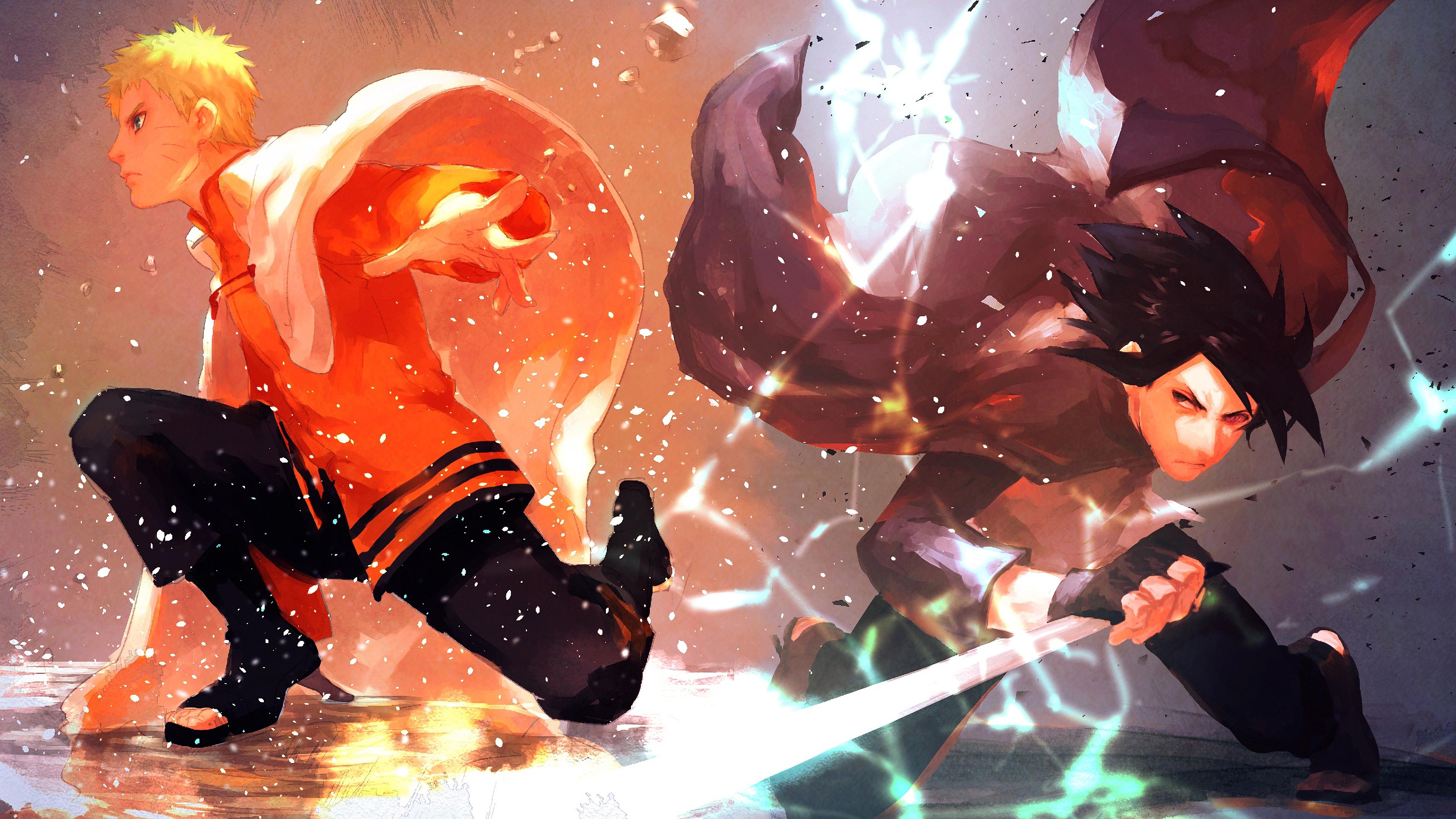 Naruto Sasuke Wallpaper Naruto And Sasuke Wallpaper 4k 3840x2160 Download Hd Wallpaper Wallpapertip