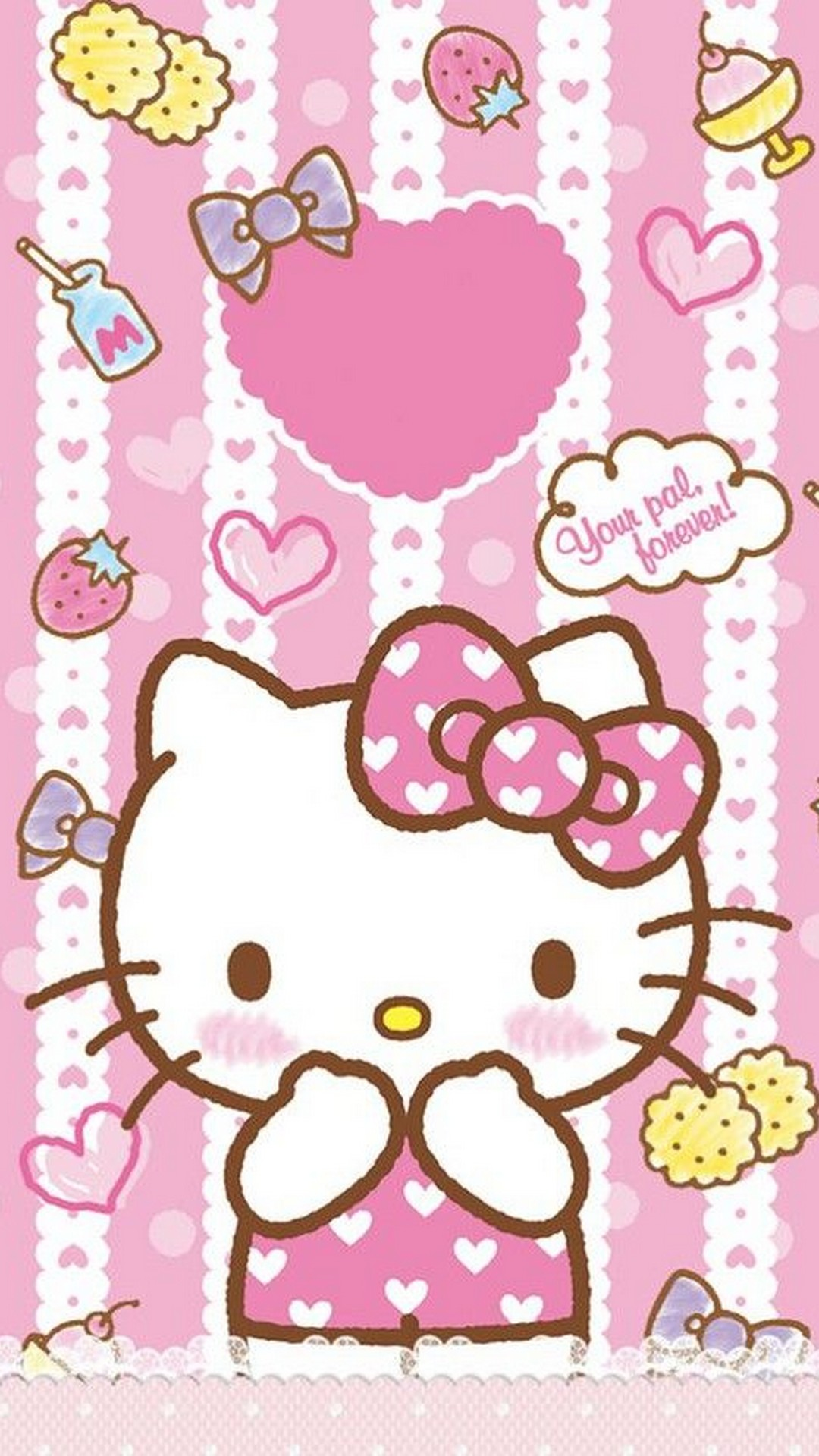 Hello Kitty Characters Wallpaper For Android With Image Hello Kitty Pink 1080x1920 Download Hd Wallpaper Wallpapertip