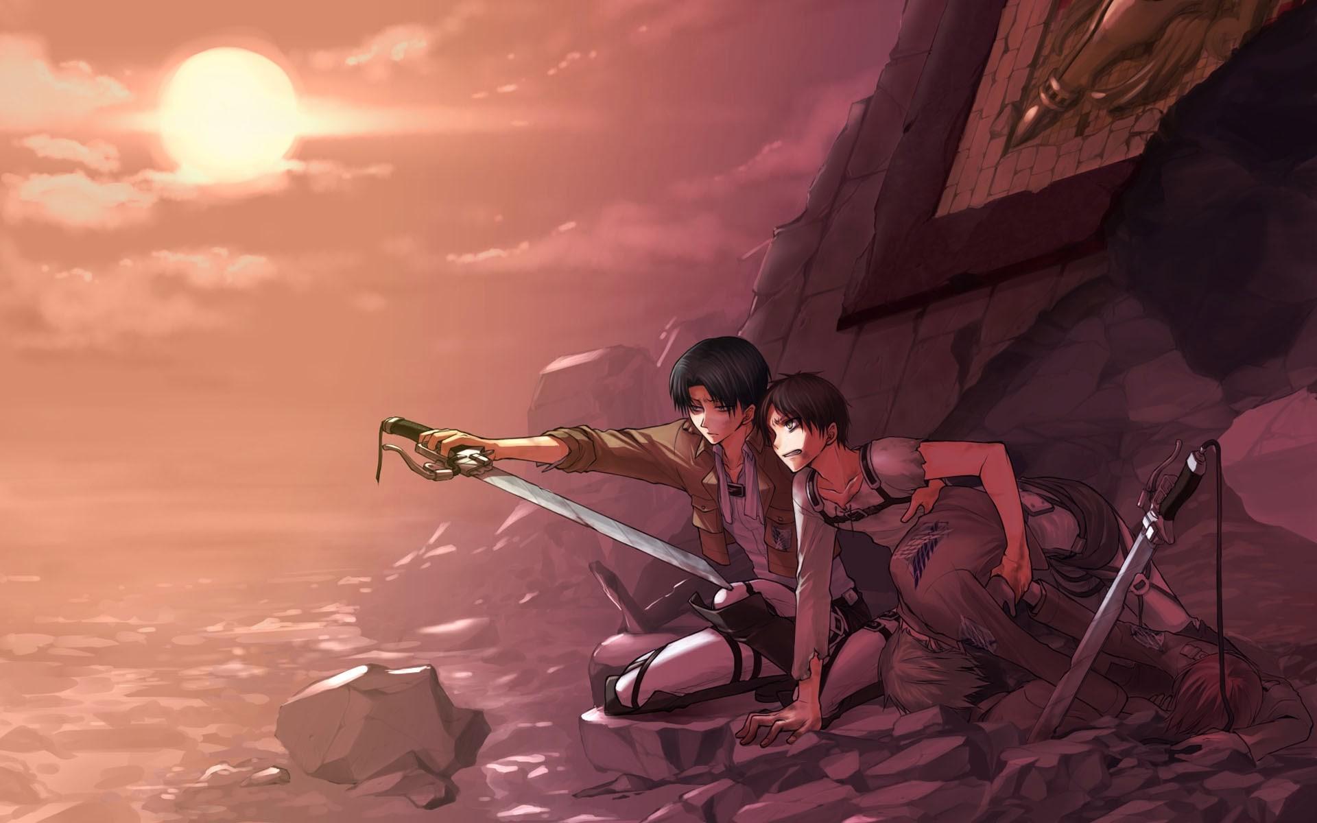 Levi Eren Armin Attack On Titan Shingeki No Kyojin Attack On Titan Wallpaper Levi Eren 1920x1200 Download Hd Wallpaper Wallpapertip