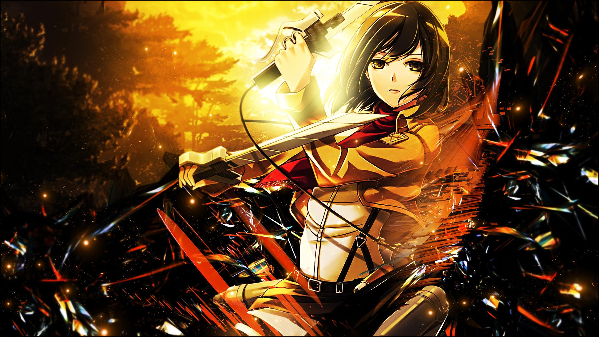612525 Title Mikasa Ackerman Anime Attack On Titan Mikasa Ackerman Wallpaper Hd 1920x1080 Download Hd Wallpaper Wallpapertip