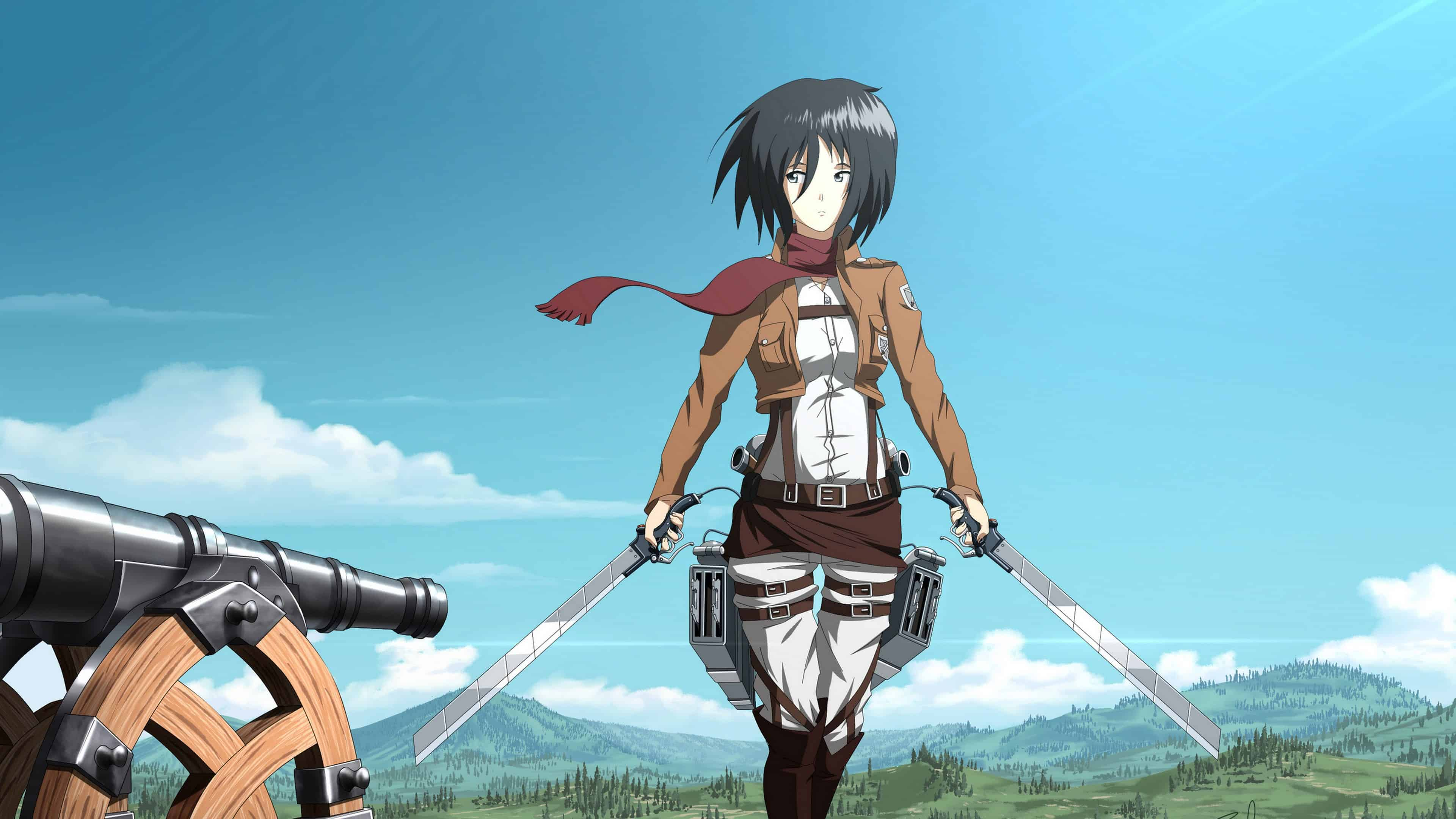 4k Mikasa Ackerman Hd Desktop Wallpaper Attack On Titan Wallpaper 4k Mikasa 3840x2160 Download Hd Wallpaper Wallpapertip