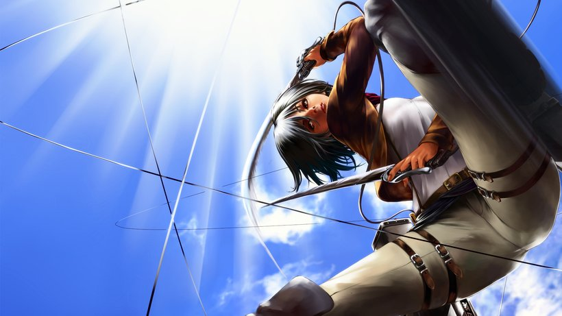 Mikasa Ackerman Attack On Titan Shingeki No Kyojin Mikasa Attack On Titan Wallpaper 4k 820x461 Download Hd Wallpaper Wallpapertip