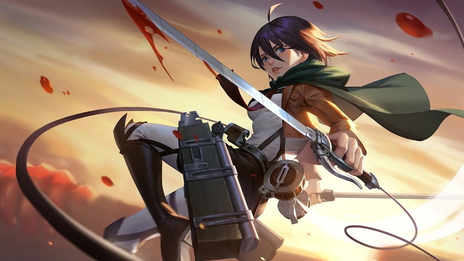 Mikasa Attack On Titan 4k Attack On Titan Wallpaper Mikasa 914x514 Download Hd Wallpaper Wallpapertip