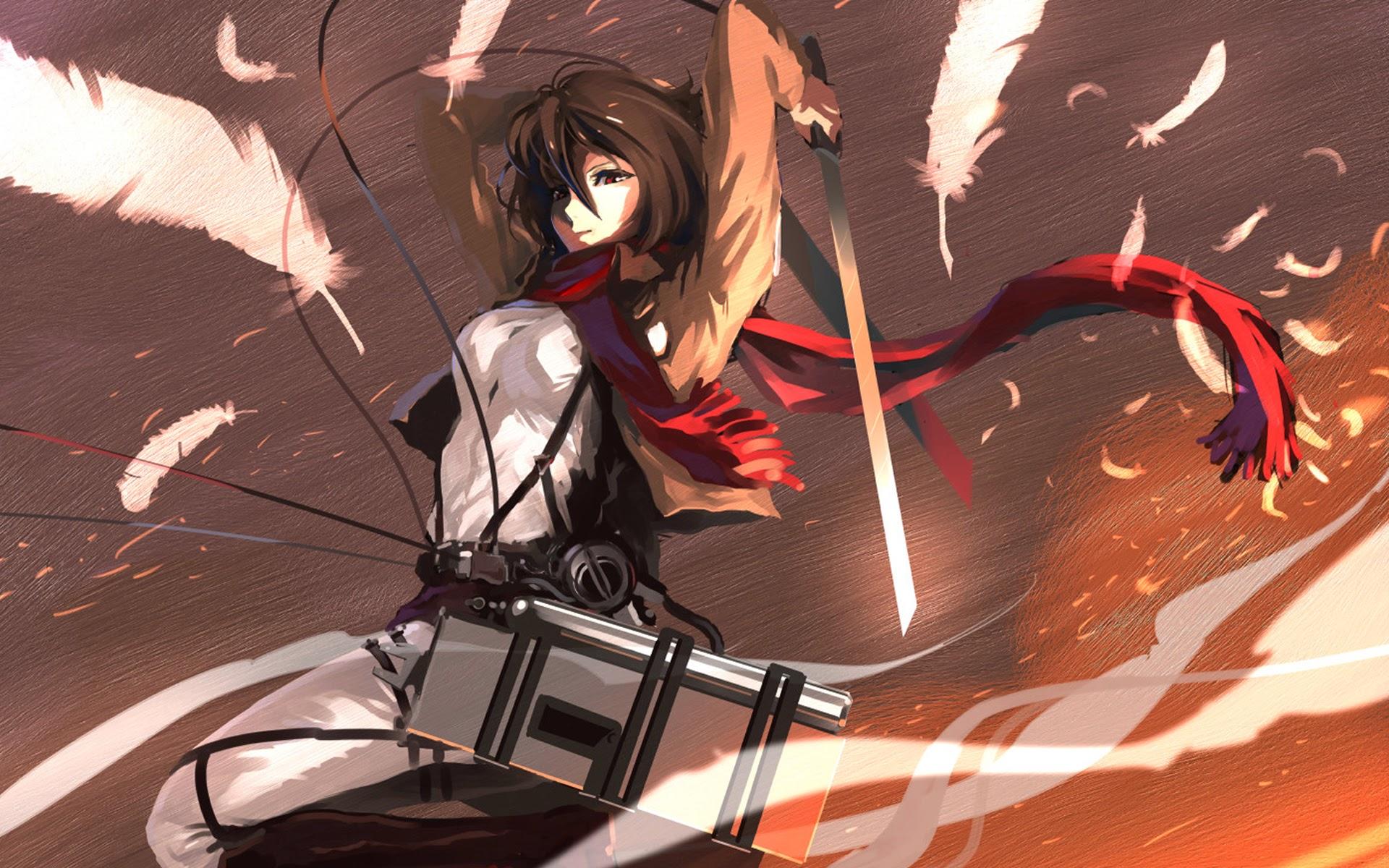 682073 Title Anime Attack On Titan Mikasa Ackerman Attack On Titan Wallpaper Mikasa And Eren 1920x1200 Download Hd Wallpaper Wallpapertip