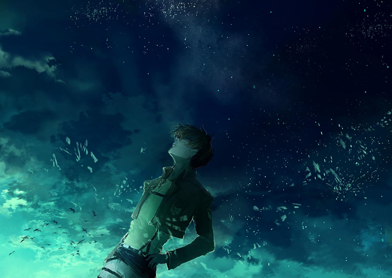665357 Title Levi Ackerman Anime Attack On Titan Attack On Titan Night Sky 1366x970 Download Hd Wallpaper Wallpapertip