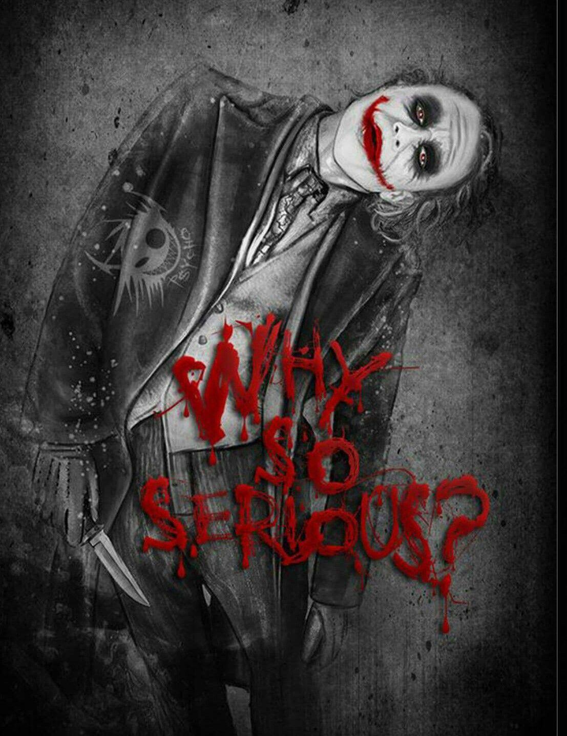 Joker Why So Serious Blood - 1107x1437 ...