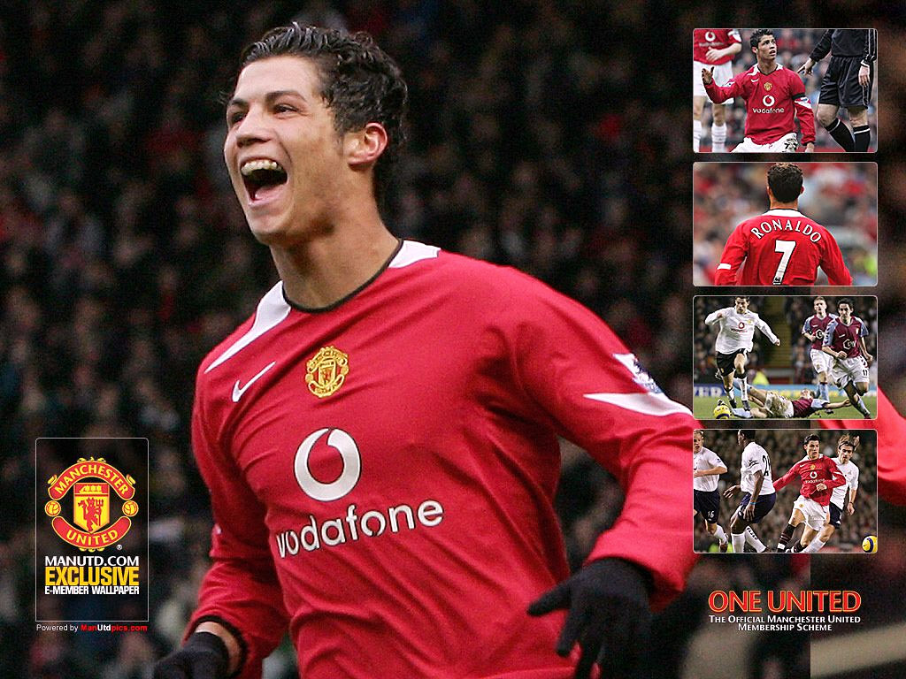 Ronaldo Man United 2005 1024x768 Download Hd Wallpaper Wallpapertip