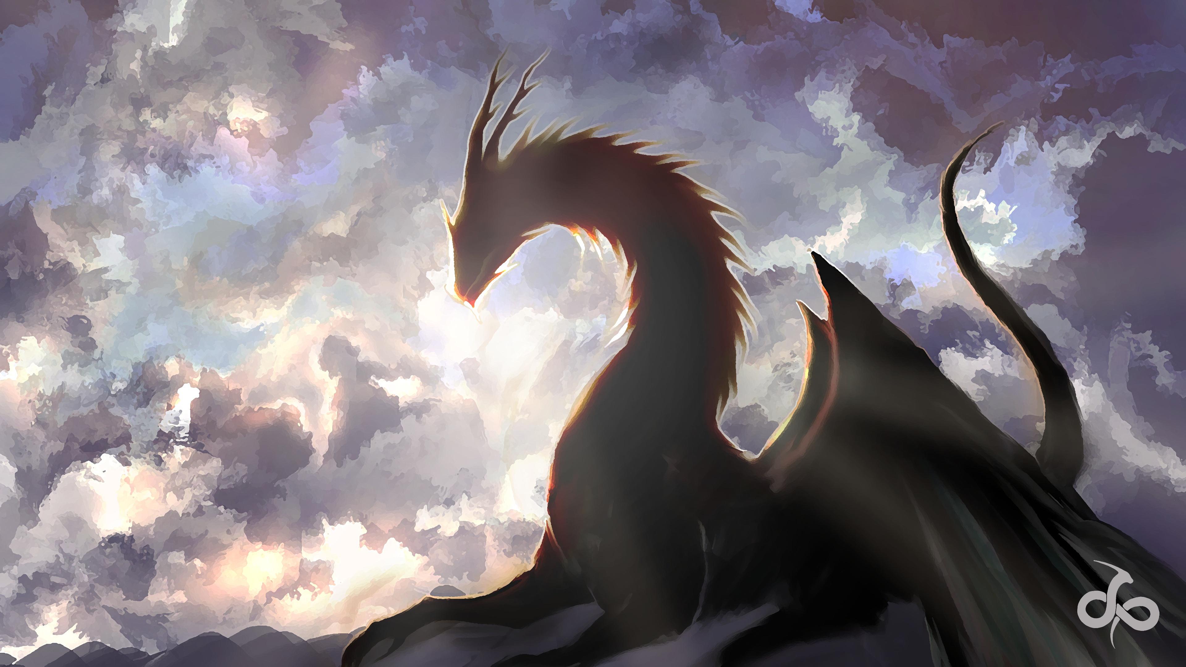 Fantasy Dragon Wallpaper 4k 3840x2160 Download Hd Wallpaper Wallpapertip
