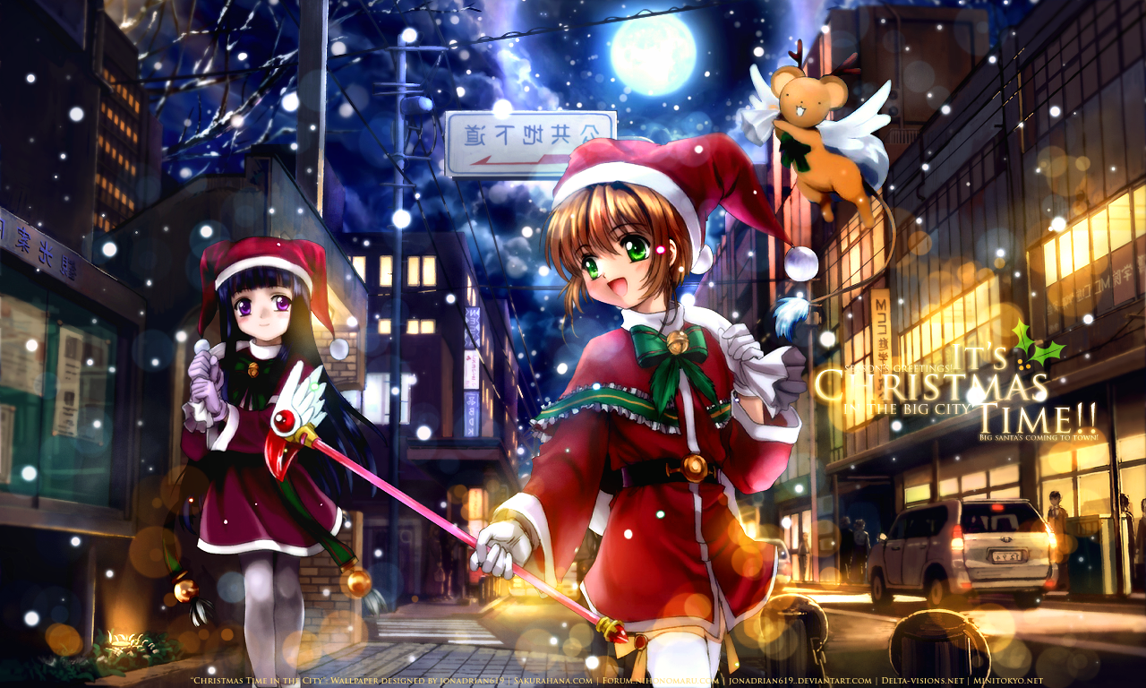 33 334723 christmas anime girls desktop hd wallpaper sakura card