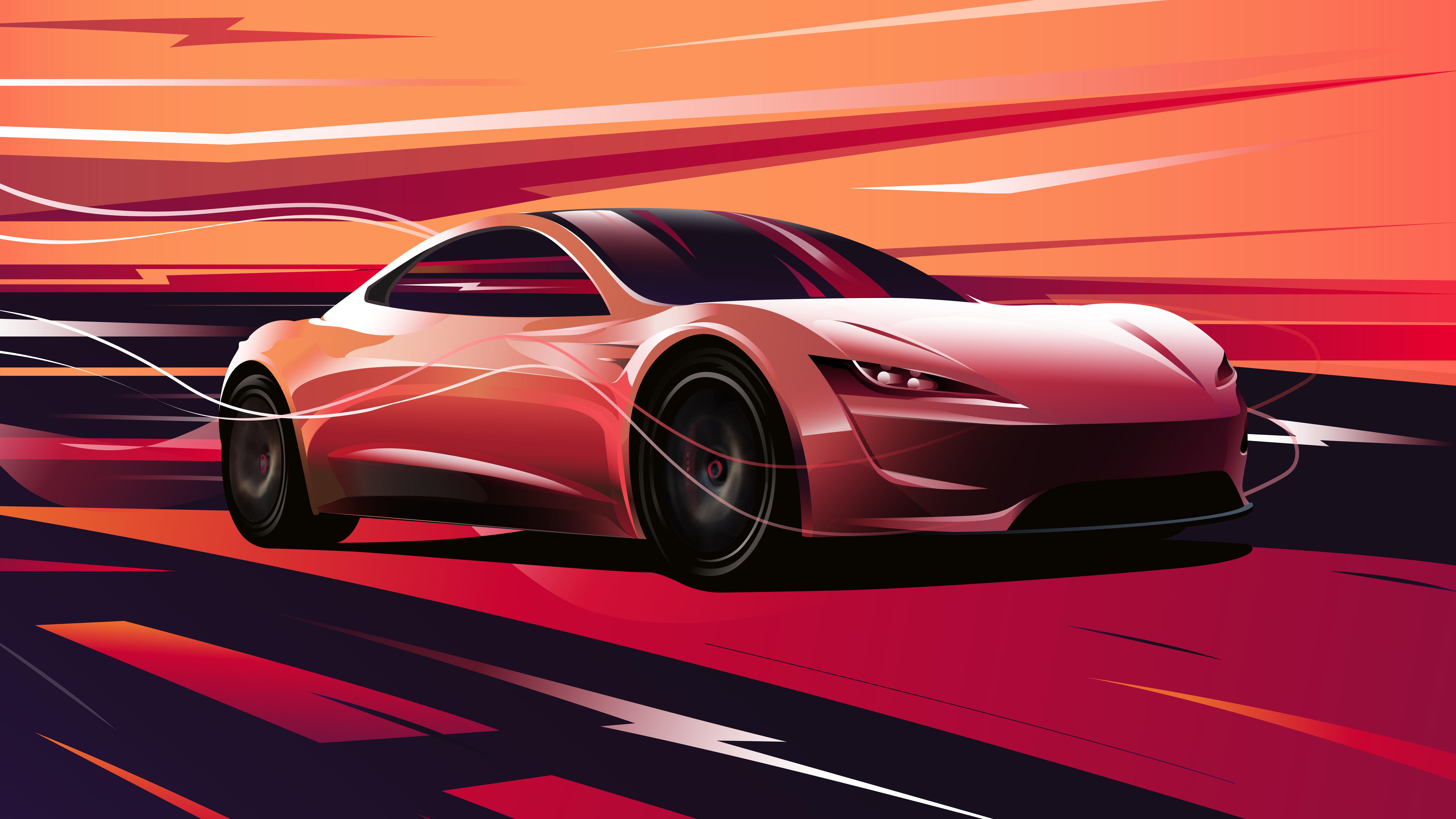 Tesla Roadster 2020 Wallpaper 4k 7680x4320 Download Hd Wallpaper Wallpapertip