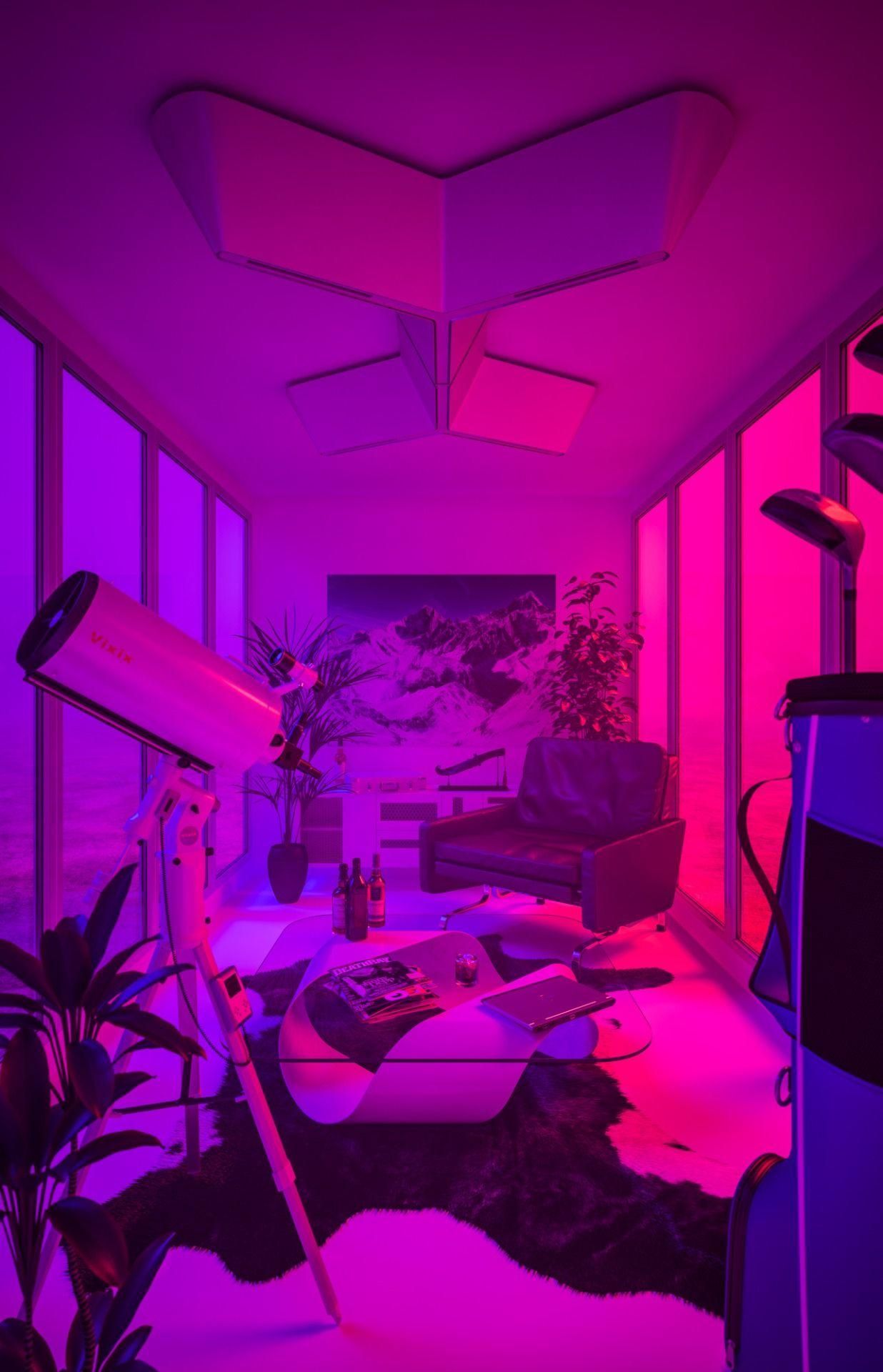 Esthetique Neon Rose Et Violet Papier Peint Chambre Tumblr 1236x1920 Wallpapertip