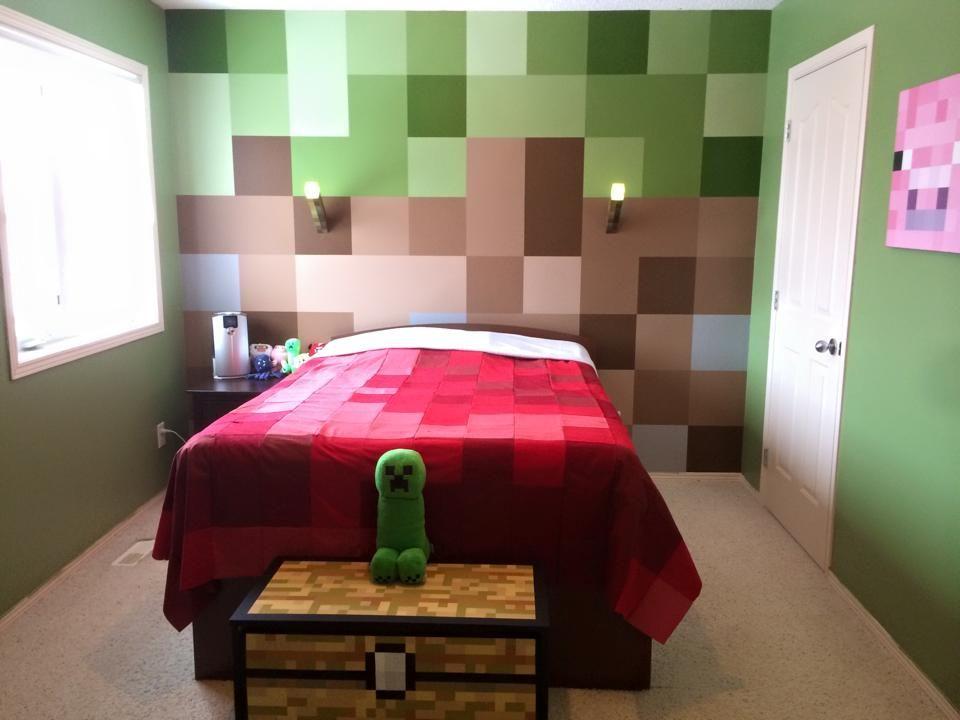 Minecraft Themed Bedroom 960x720 Download Hd Wallpaper Wallpapertip