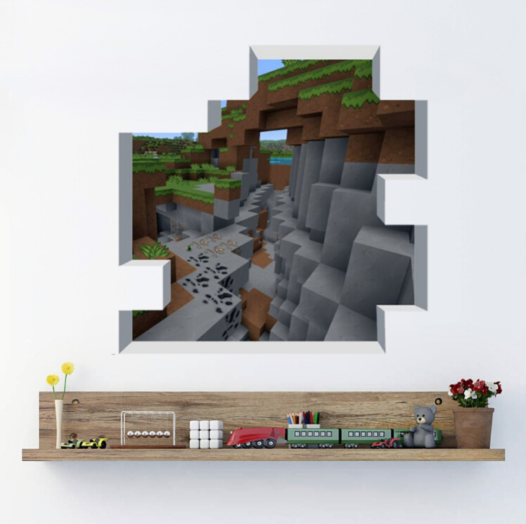 3d Minecraft Wandtattoo Minecraft Zimmer Tapete 748x746 Wallpapertip