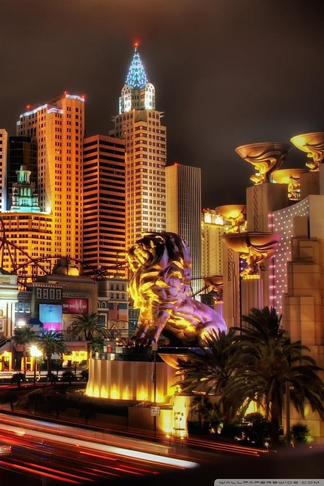 Las Vegas Iphone Wallpaper New York New York Hotel Casino 640x960 Download Hd Wallpaper Wallpapertip