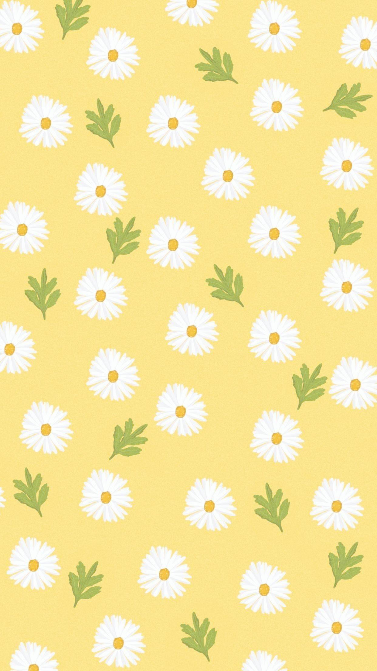 yellow background aesthetic computer