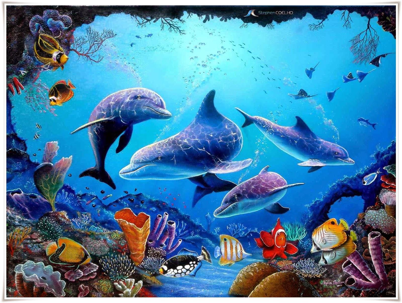 Pittura Di Delfini Carta Da Parati Tk 1600x1207 Wallpapertip