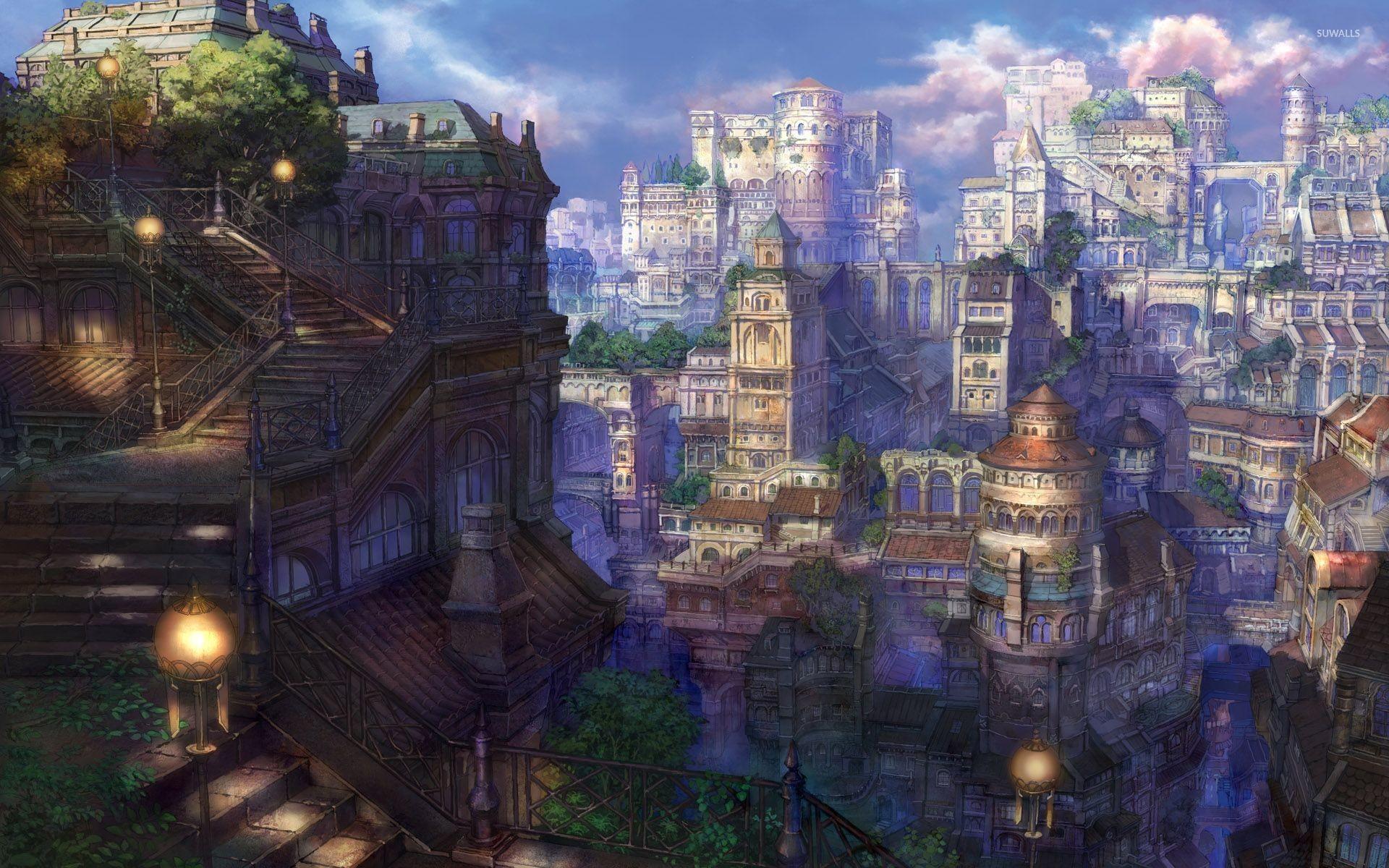 アニメ壁紙タウン 町の壁紙 19x10 Wallpapertip