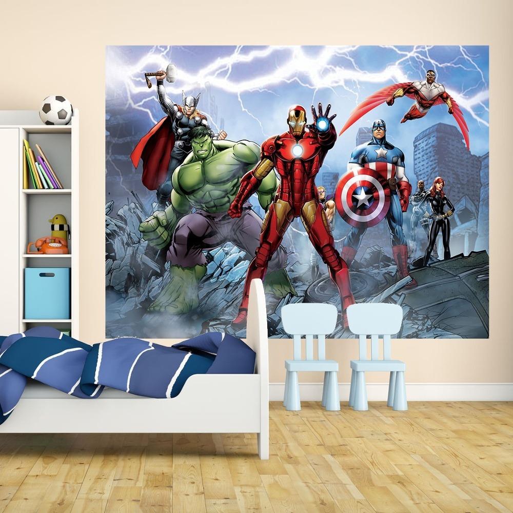 Marvel Avengers Wallpaper For Boys Room ...