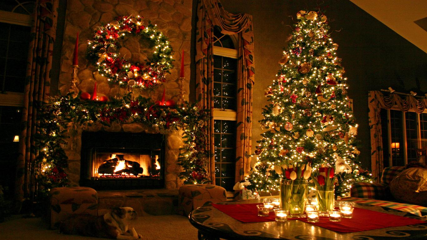 Sfondi Natalizi Per Desktop Hd.Sfondi Di Natale Full Hd Carta Da Parati Natalizia 1366x768 1366x768 Wallpapertip
