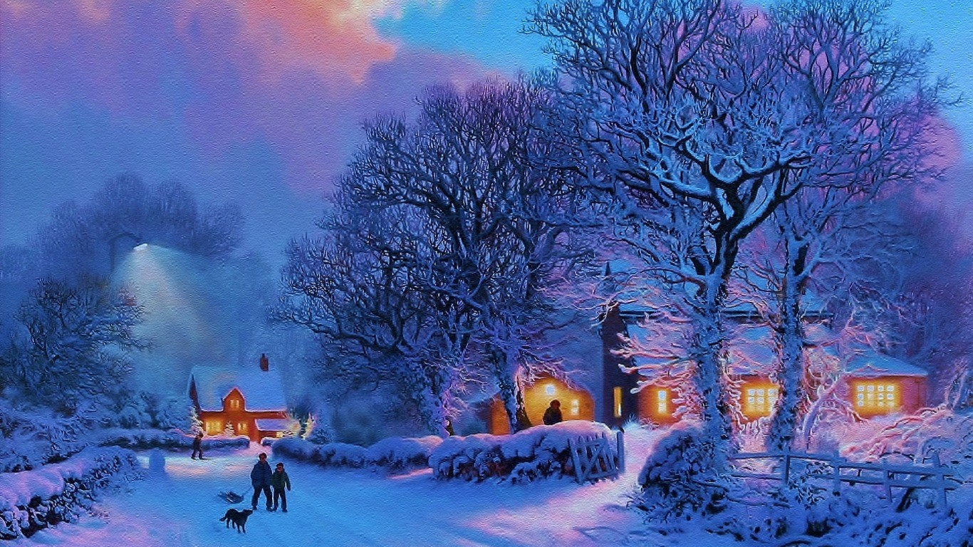 冬の壁紙1366x768 Hd クリスマスの壁紙1366x768 1366x768 Wallpapertip