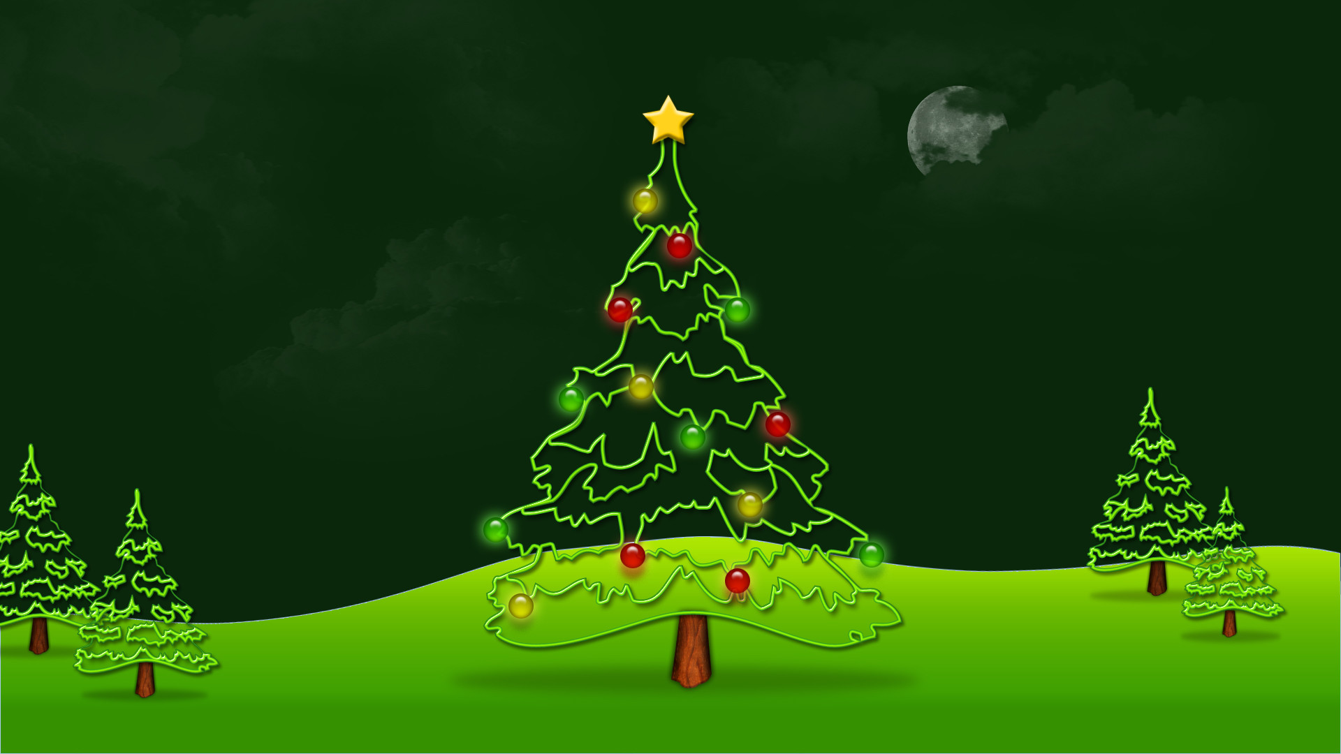 christmas wallpapers animated christmas tree background 1920x1080 download hd wallpaper wallpapertip animated christmas tree background