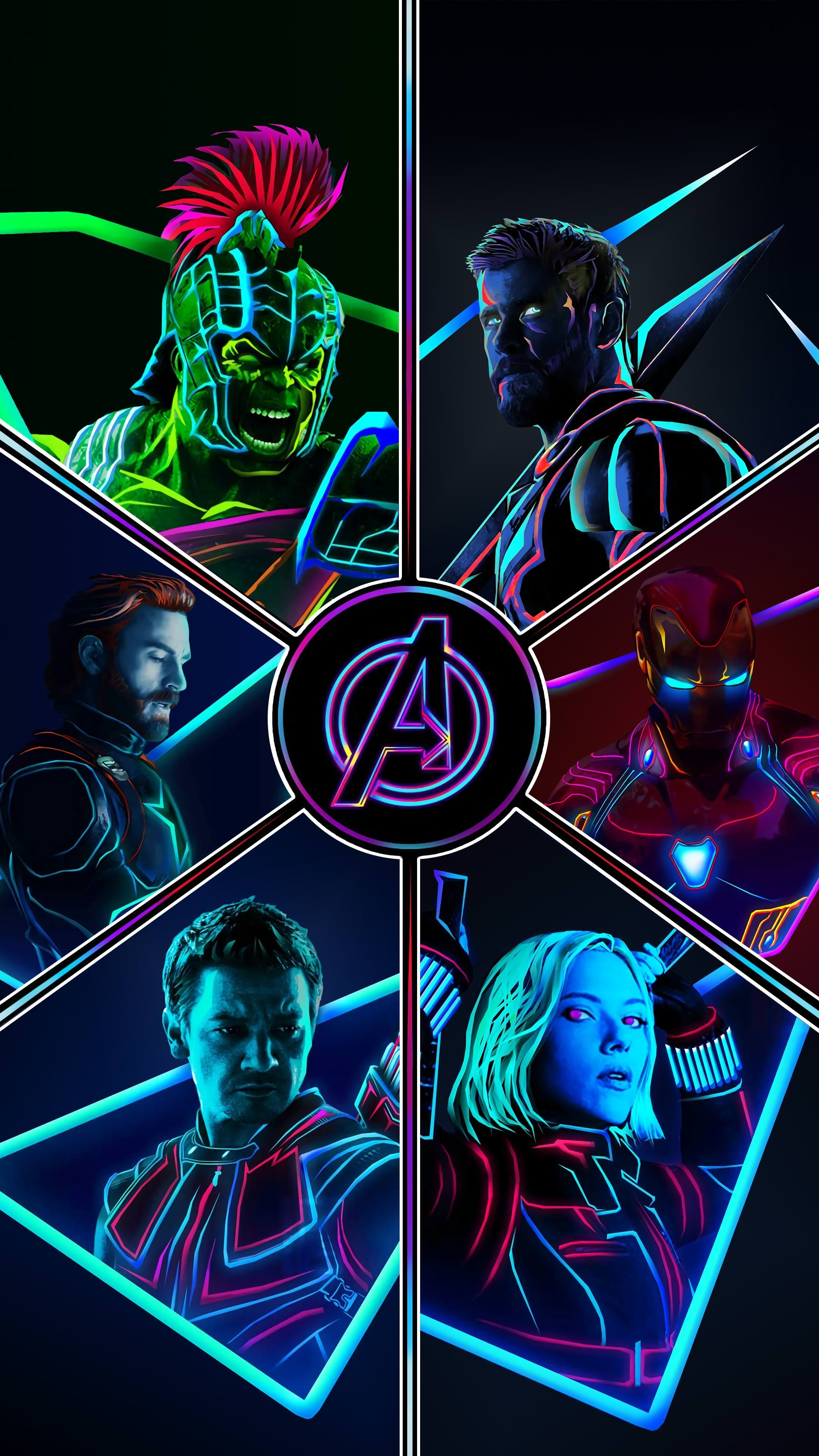 Avengers Neon Wallpaper 4k 2160x3840 Download Hd Wallpaper Wallpapertip