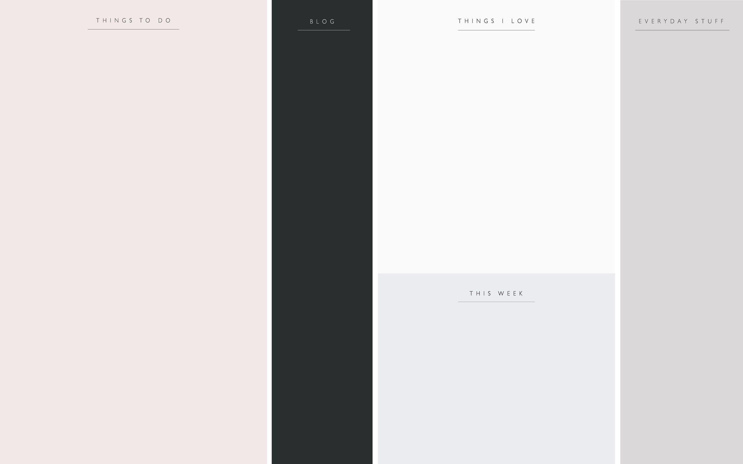 Minimalist Desktop Wallpaper Organizer - 2500x1563 ...