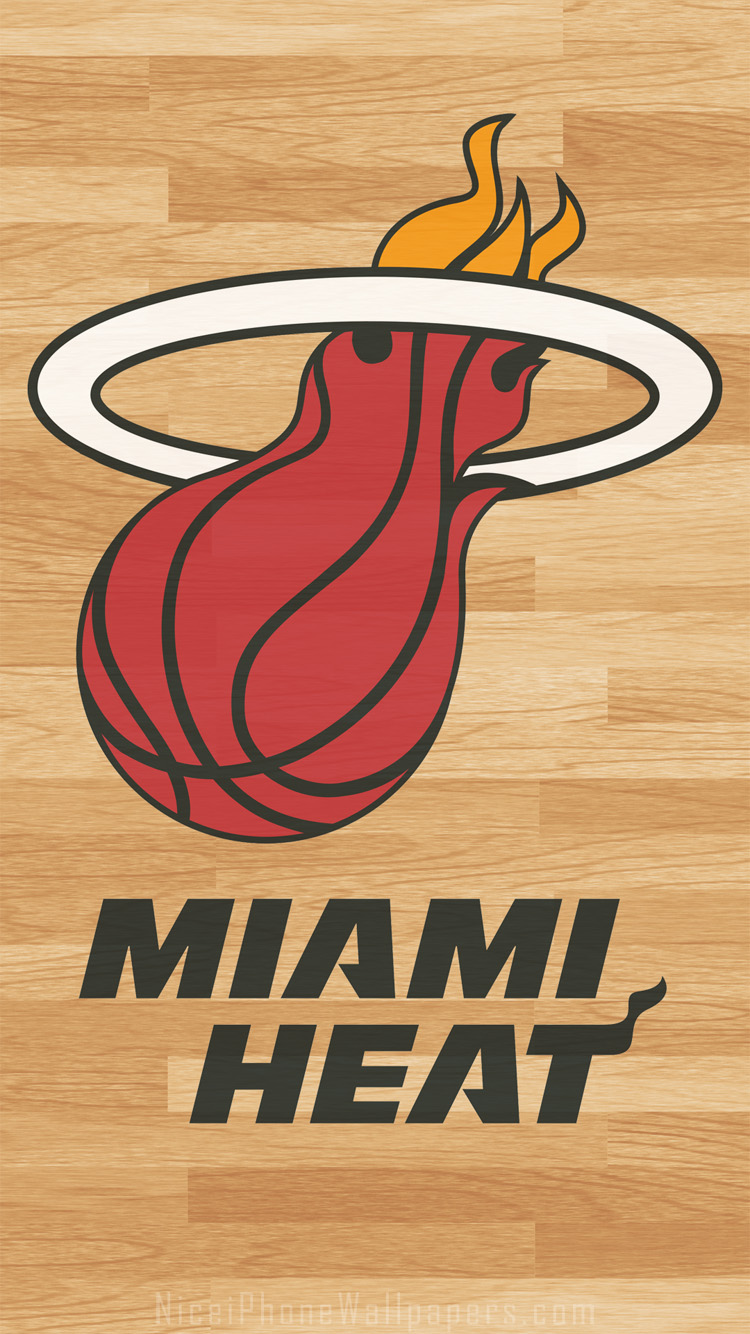 Related Miami Heat Iphone Wallpapers Themes And Backgrounds Miami Heat Nba Logo 750x1334 Download Hd Wallpaper Wallpapertip