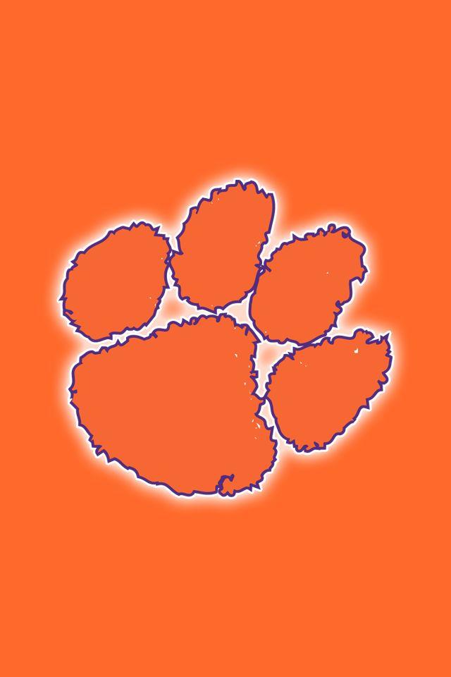 Logo Football Logo Clemson Tigers 640x960 Download Hd Wallpaper Wallpapertip