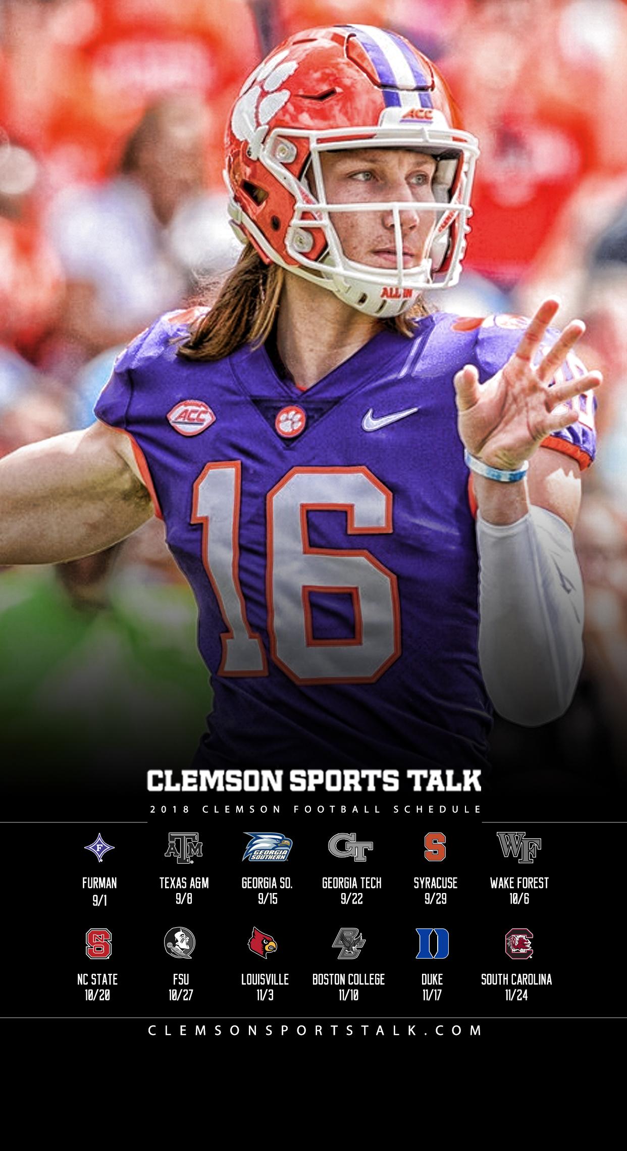 Clemson Football Wallpaper Iphone 1242x2280 Download Hd Wallpaper Wallpapertip