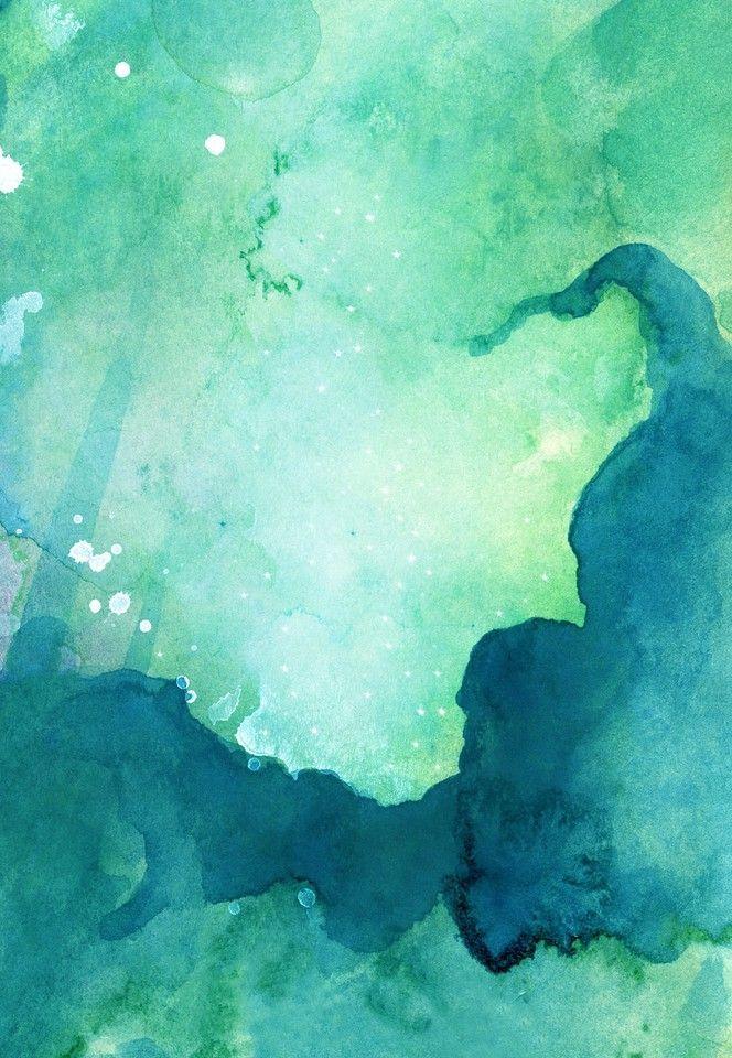 Watercolor Green Ombre Background 664x960 Download Hd Wallpaper Wallpapertip
