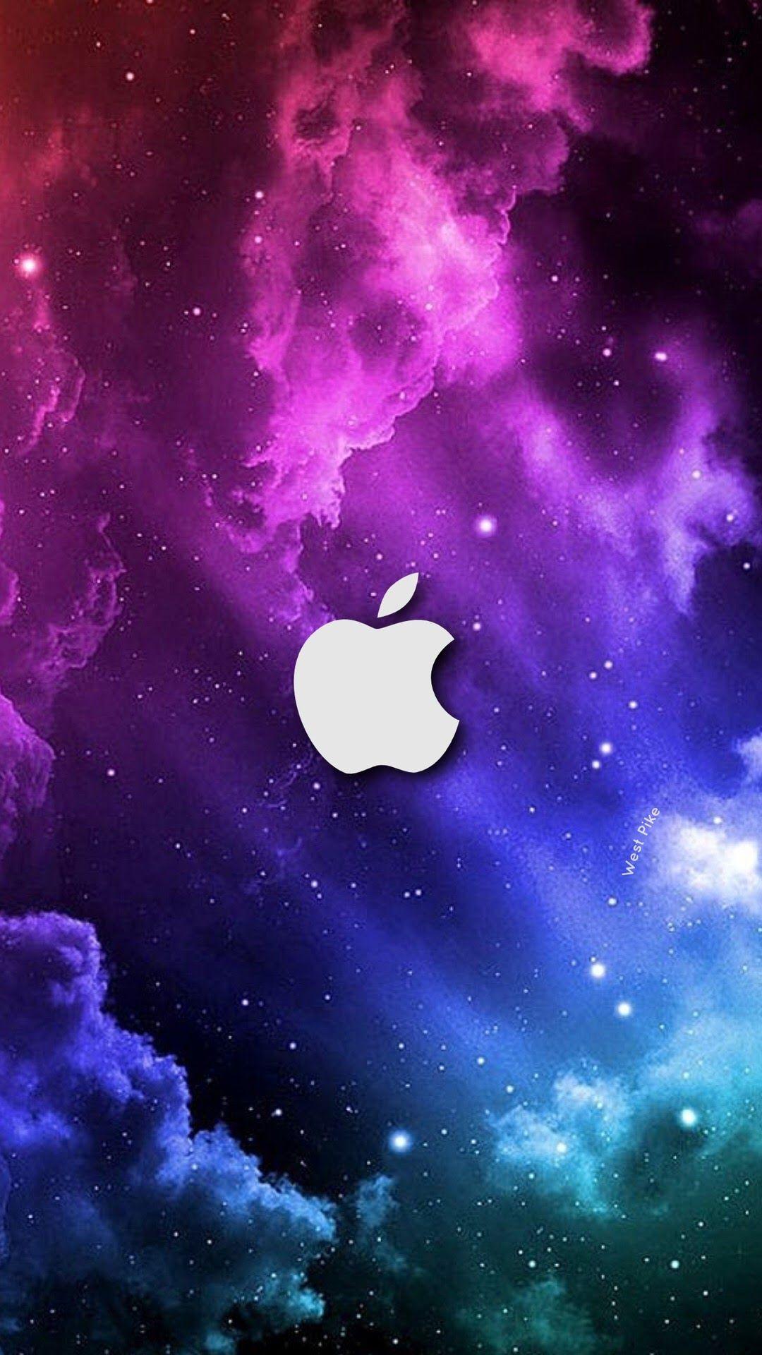 アップルロゴ銀河 かわいいリンゴの壁紙 1080x19 Wallpapertip