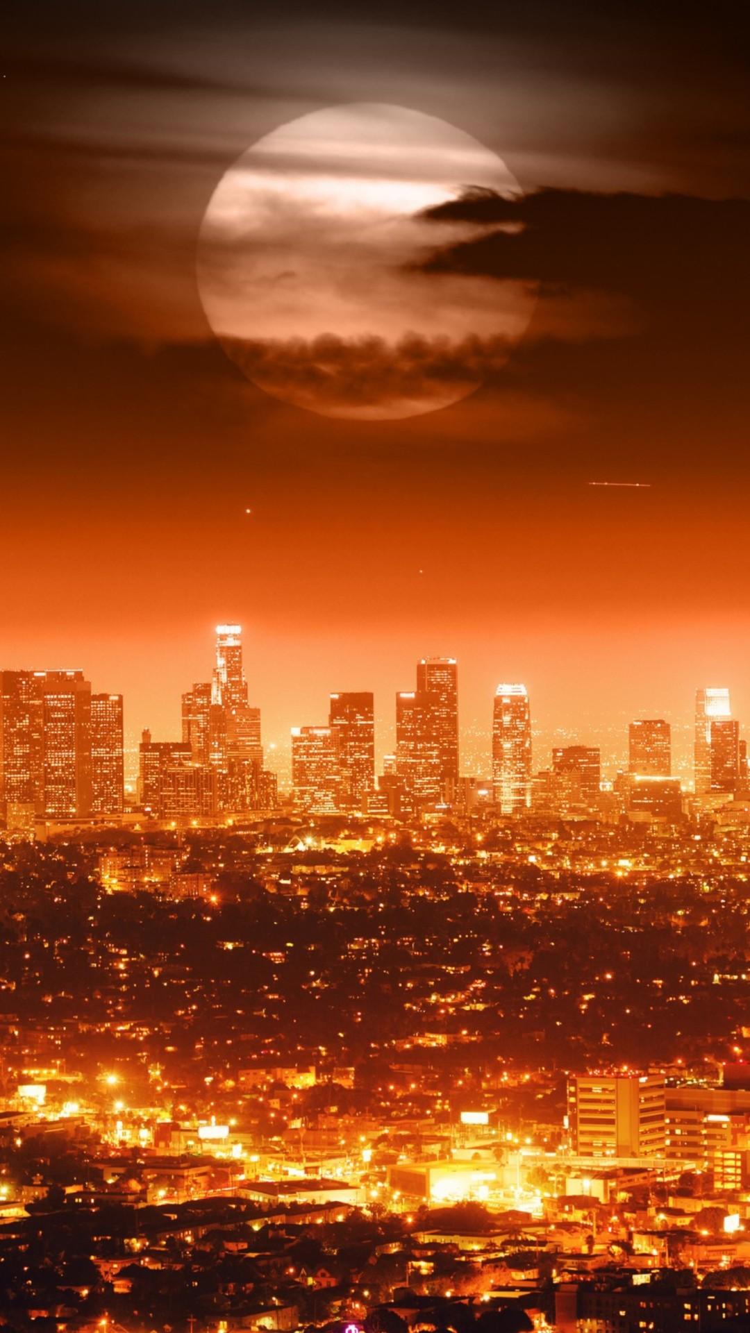 美しい夜のロサンゼルス ロサンゼルスの携帯電話の壁紙 1080x19 Wallpapertip