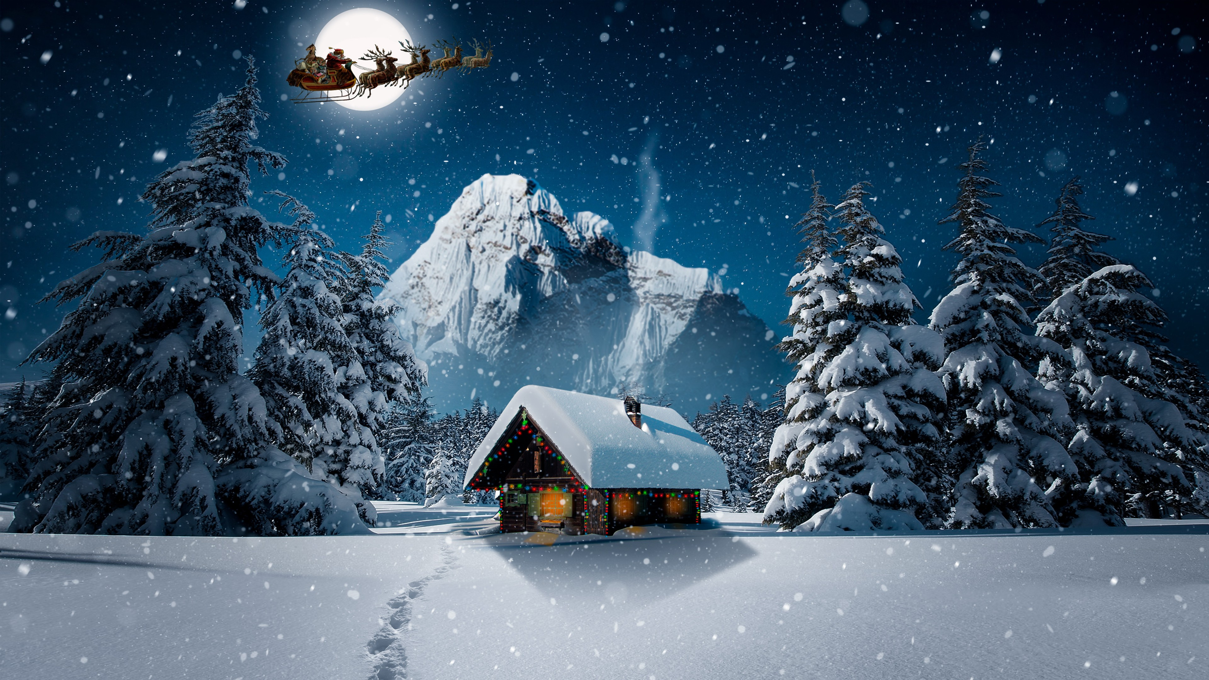 Christmas Wallpaper 4k - 1366x768 - Download HD Wallpaper ...