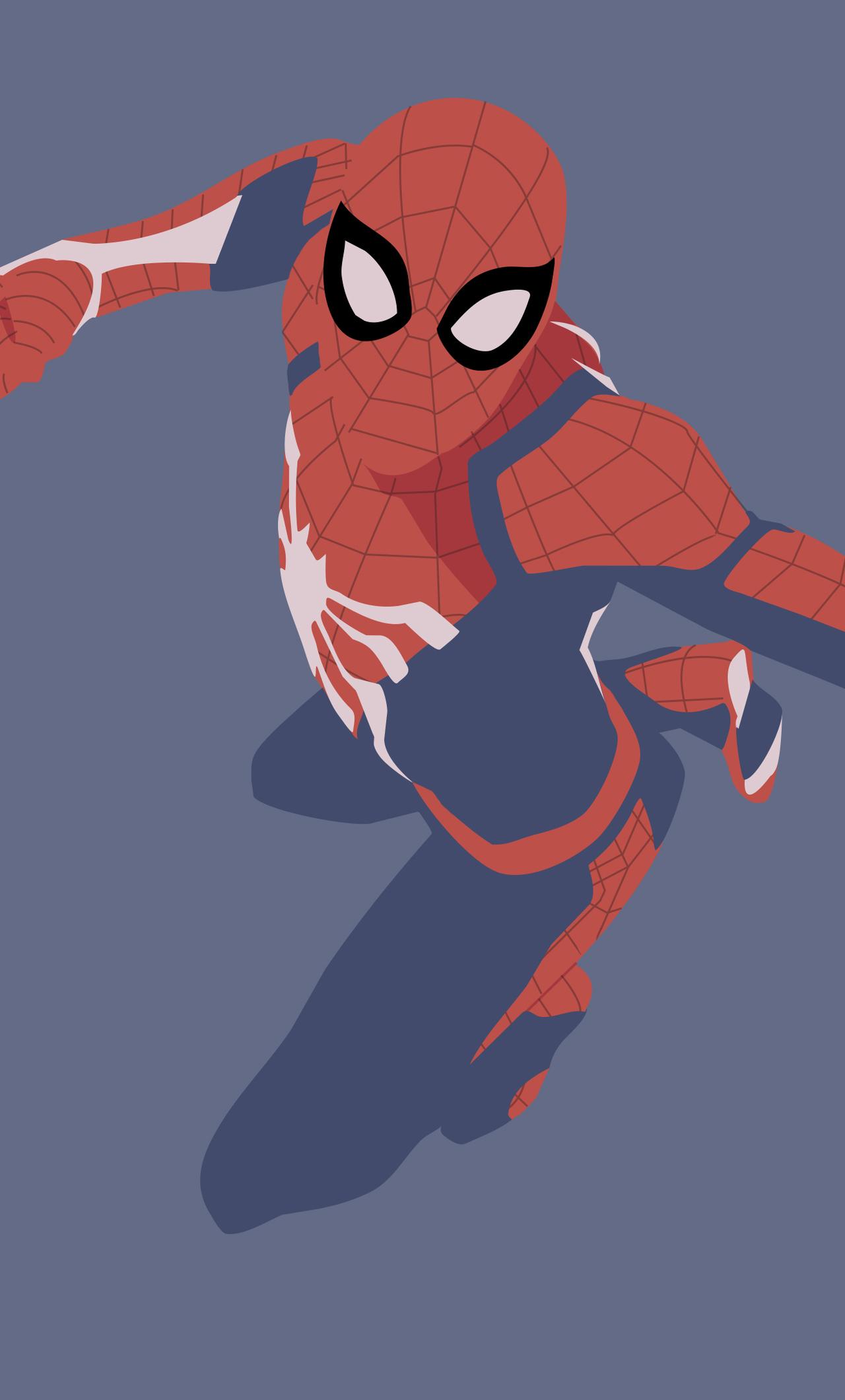 スパイダーマンイラストベスト 4kの壁紙の携帯電話 1280x21 Wallpapertip