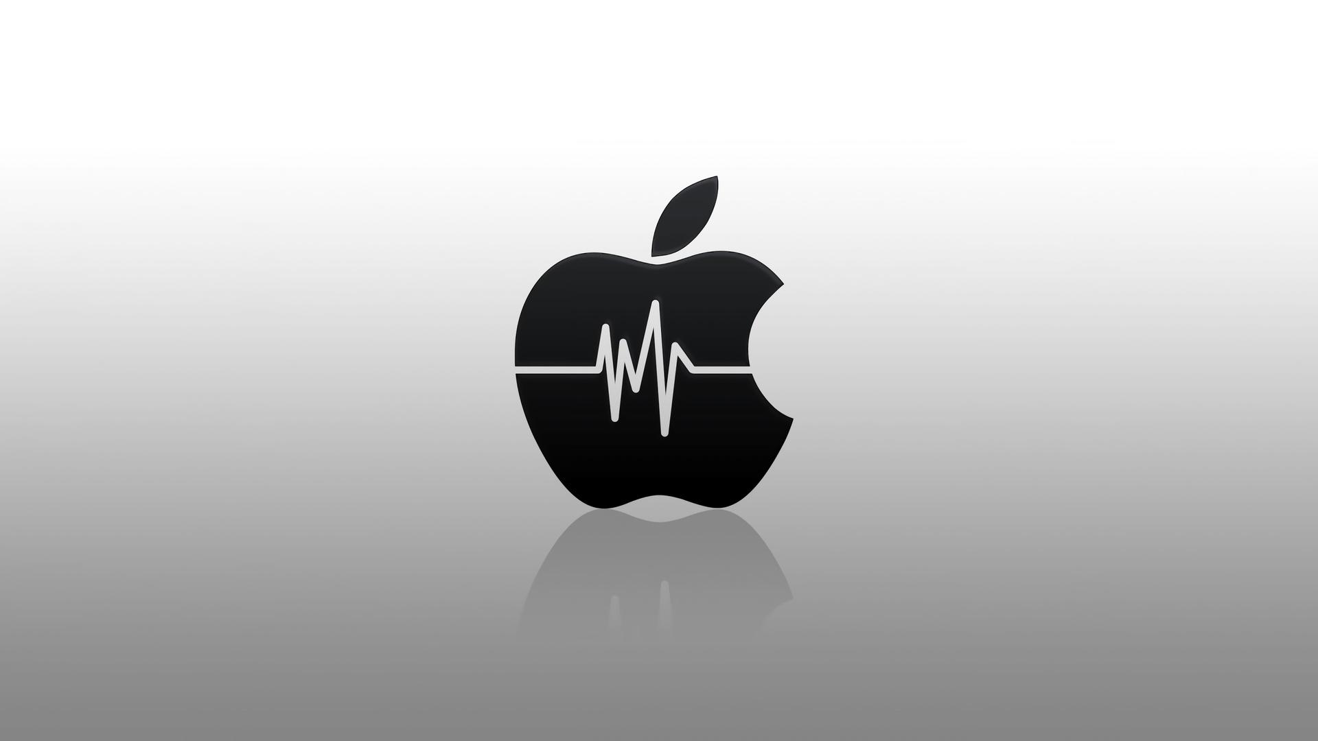 Brand 4k Apple Logo Heartbeat Brand And Logo Logo Black Apple Wallpaper 4k 1920x1080 Download Hd Wallpaper Wallpapertip