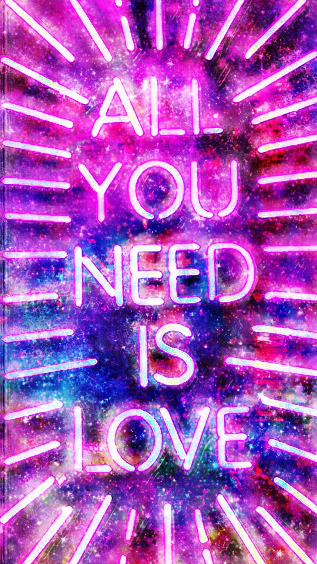 4 44217 rainbow neon galaxy background